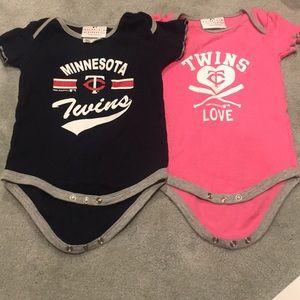Set of 2 Minnesota Twins Onesies